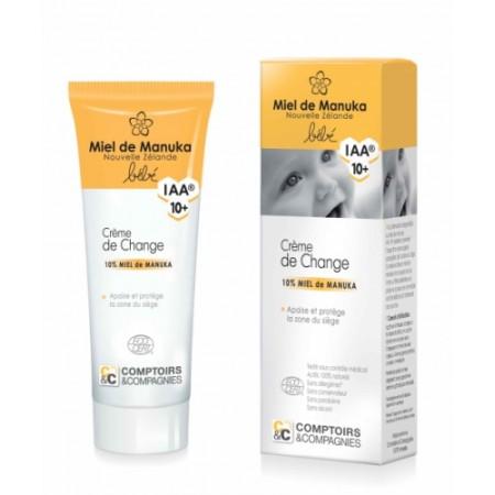 Crème de change bébé certifiée Bio 10 % miel de Manuka IAA 10+